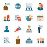 Wybory ikony mieszkanie Obrazy Royalty Free
