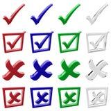 wybory ikony set Zdjęcia Royalty Free