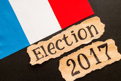 Wybory 2017, inskrypcja na poszarpanym papieru prześcieradle Fotografia Royalty Free