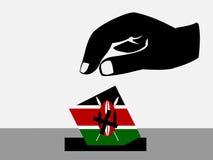 wybory kenijczyk ilustracja wektor