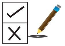 Wybory Ołówek Zdjęcie Stock