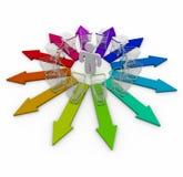 wybory opcje target564_1_ Obraz Stock