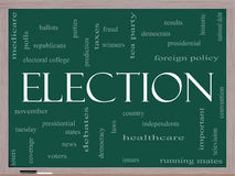 Wybory pojęcie na blackboard Fotografia Royalty Free