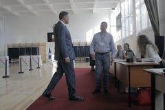 Wybory Rumunia Klaus Iohannis Zdjęcia Royalty Free