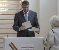 Wybory Rumunia Klaus Iohannis Zdjęcia Stock