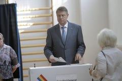Wybory Rumunia Klaus Iohannis Zdjęcie Stock