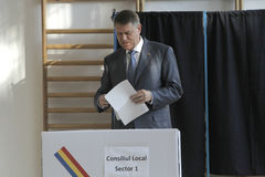 Wybory Rumunia Klaus Iohannis Fotografia Royalty Free