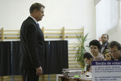 Wybory Rumunia Klaus Iohannis Obraz Royalty Free