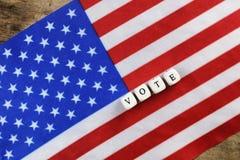 Wybory simbol na usa flaga Obrazy Royalty Free