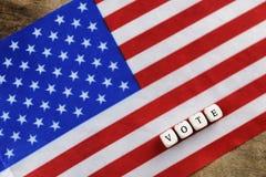 Wybory simbol na usa flaga Fotografia Stock