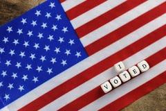 Wybory simbol na usa flaga Zdjęcie Stock