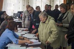 Wybory stan duma federacja rosyjska 18 2016 w Kaluga regionie Wrzesień Zdjęcie Stock