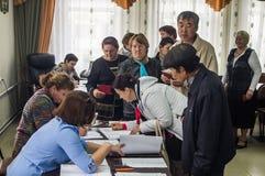 Wybory stan duma federacja rosyjska 18 2016 w Kaluga regionie Wrzesień Fotografia Royalty Free