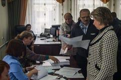 Wybory stan duma federacja rosyjska 18 2016 w Kaluga regionie Wrzesień Obrazy Stock