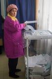 Wybory stan duma federacja rosyjska 18 2016 w Kaluga regionie Wrzesień Fotografia Stock