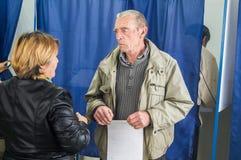 Wybory stan duma federacja rosyjska 18 2016 w Kaluga regionie Wrzesień Zdjęcia Stock