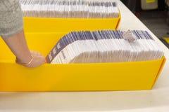 Wybory tajnego głosowania liczenie zdjęcia stock