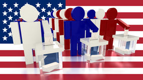 Wybory w America royalty ilustracja