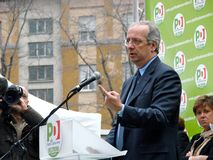 wybory włocha veltroni Milan fotografia royalty free