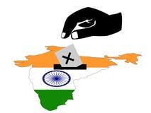 wybory za hindusa royalty ilustracja