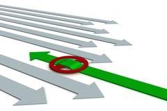 wybór kierunku ruchu Zdjęcia Stock