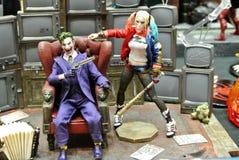 Wybrany skupiający się na samobójstwo oddziału modela skali akcji postaci od DC filmów i komiczek zdjęcia stock
