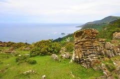 Wybrzeże śmierć w Galicia Spain zdjęcia royalty free