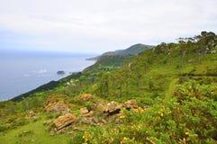 Wybrzeże śmierć w Galicia Spain obraz royalty free