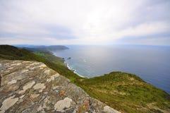 Wybrzeże śmierć w valdoviño Galicia fotografia stock