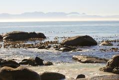 Wybrzeże Afryka - przylądka punkt w głazach Zdjęcie Royalty Free