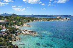 Wybrzeże Baj Sardinia w Sardinia, Włochy Obraz Stock