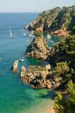 Wybrzeże blisko Calella de Palafrugell Zdjęcia Stock