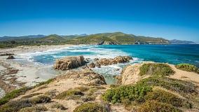 Wybrzeże Corsica i Ostriconi plaża Zdjęcia Royalty Free
