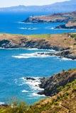 Wybrzeże Cote Vermeille Obraz Royalty Free