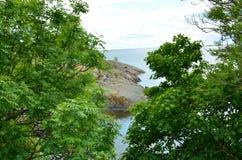 Wybrzeże Finlandia Wyspa Suomenlinna w morzu bałtyckim zdjęcie stock