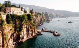 Wybrzeże Fortepianowi di Sorrento obraz royalty free
