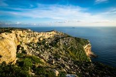 Wybrzeże i falezy Malta zdjęcie stock
