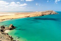 Wybrzeże losu angeles Guajira półwysep fotografia stock