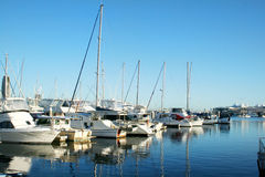 wybrzeże marina southport złoto Obrazy Royalty Free