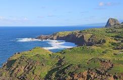 Wybrzeże Maui z Kahakuloa głową Obrazy Royalty Free