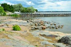 Wybrzeże miasto Helsinki kapitał Finlandia zdjęcie stock