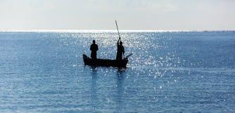 Wybrzeże Mombasa, Kenja, ocean, chmury, wybrzeże Obraz Royalty Free
