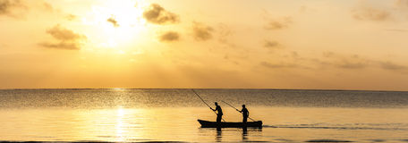 Wybrzeże Mombasa, Kenja, ocean, chmury, wybrzeże Obraz Stock