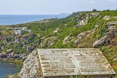 wybrzeże morza czarnego Lithoidal bank, Bułgaria obrazy royalty free