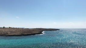 Wybrzeże morze śródziemnomorskie w Cypr zbiory wideo