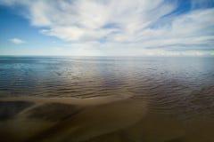 Wybrzeże morze bałtyckie, zatoka Ryski Zdjęcie Stock