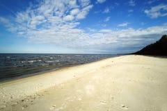 Wybrzeże morze bałtyckie, zatoka Ryski Zdjęcia Royalty Free