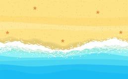 Wybrzeże morze, ocean z piaskiem, royalty ilustracja