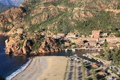 Wybrzeże na Corsica wyspie, Francja zdjęcie stock