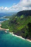 wybrzeże na Kauai płonie Zdjęcia Stock